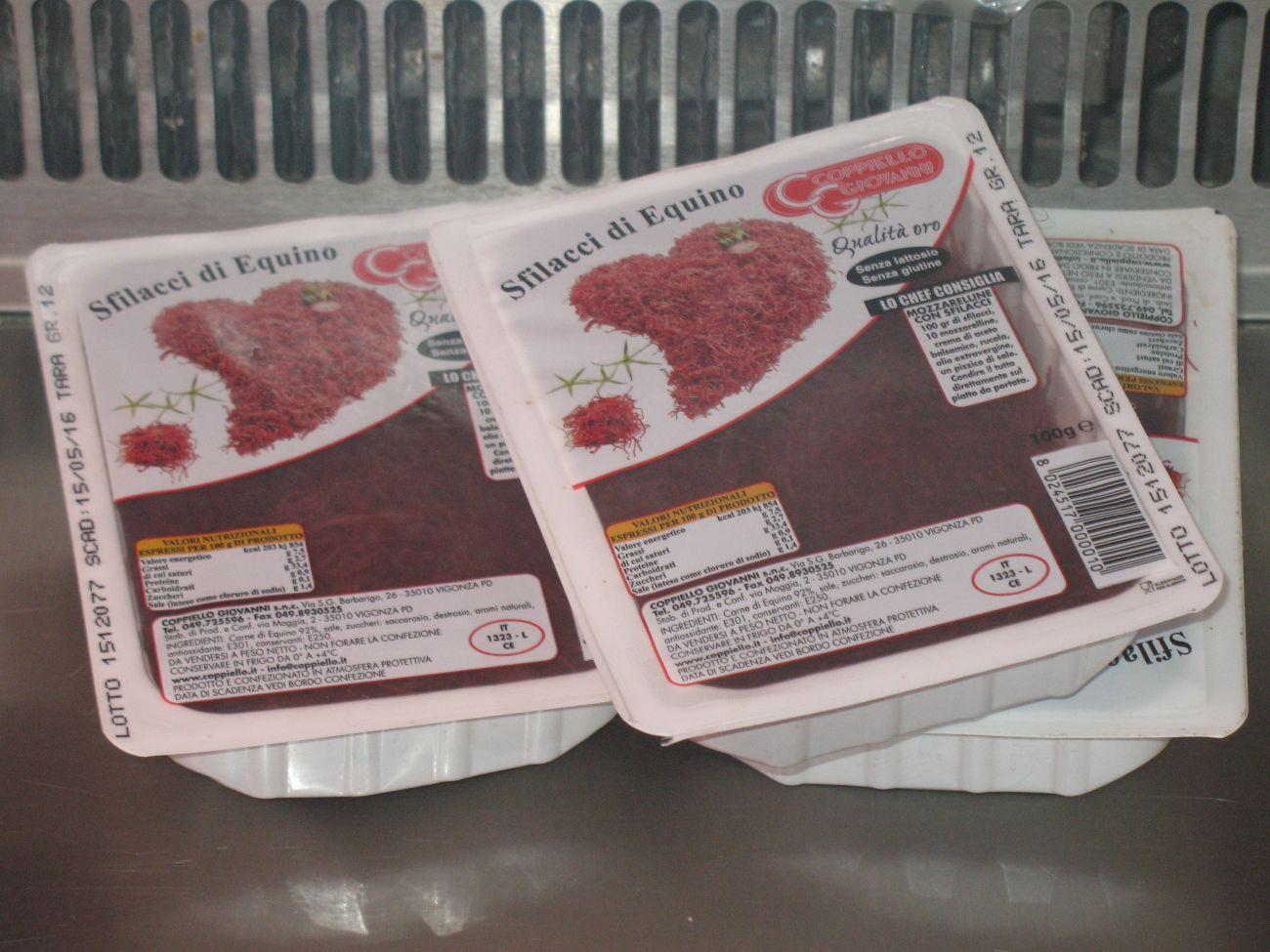 la carne di cavallo da Macelleria Equina Varese 48